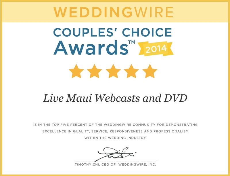 WeddingWire Couple's Choice Award